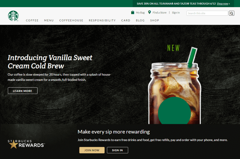 Starbucks Sign Up Process email marketing